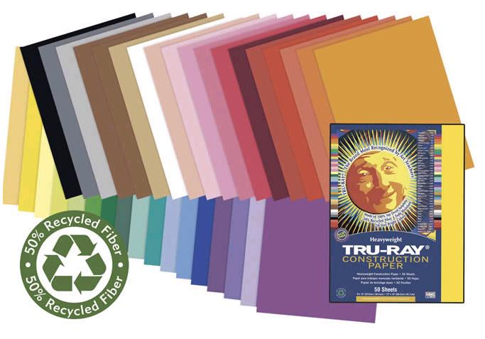 "Pacon 103427 Brilliant Lime Construction Paper (Fade Resistant) - 18"" x 24"""
