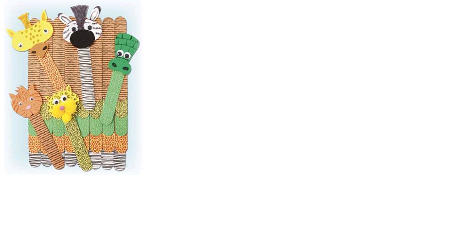 Roylco 39100 Craft Sticks - Wild Animal