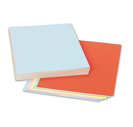 "Pacon 5171 Coloured Tag Board Assorted - 9"" x 12"""