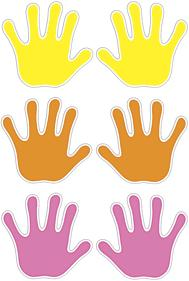 Trend T10930 Accents Handprints Classic Variety Pack - 5.5""