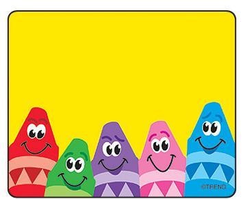 """Trend T68013 Name Tags Colourful Crayons - 3"""" x 2.5"""""""