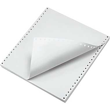 White Computer Paper Ultra Perforated - 8.5''x11'' - 1266811002