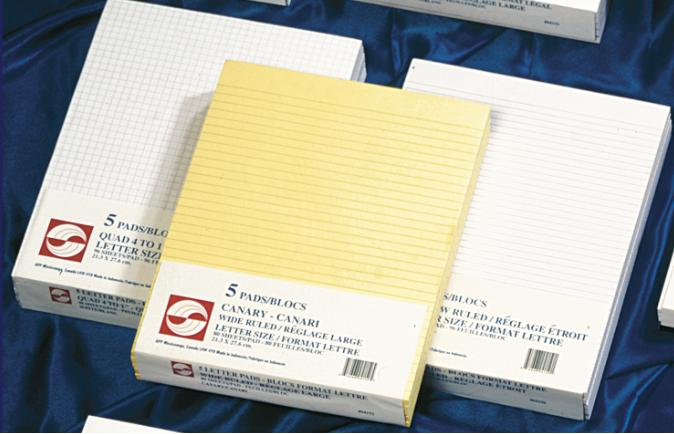 """Figuring Pad White 5 to 1'' #74821 - 8.5""""x11"""" - 96 sheets - 04151"""