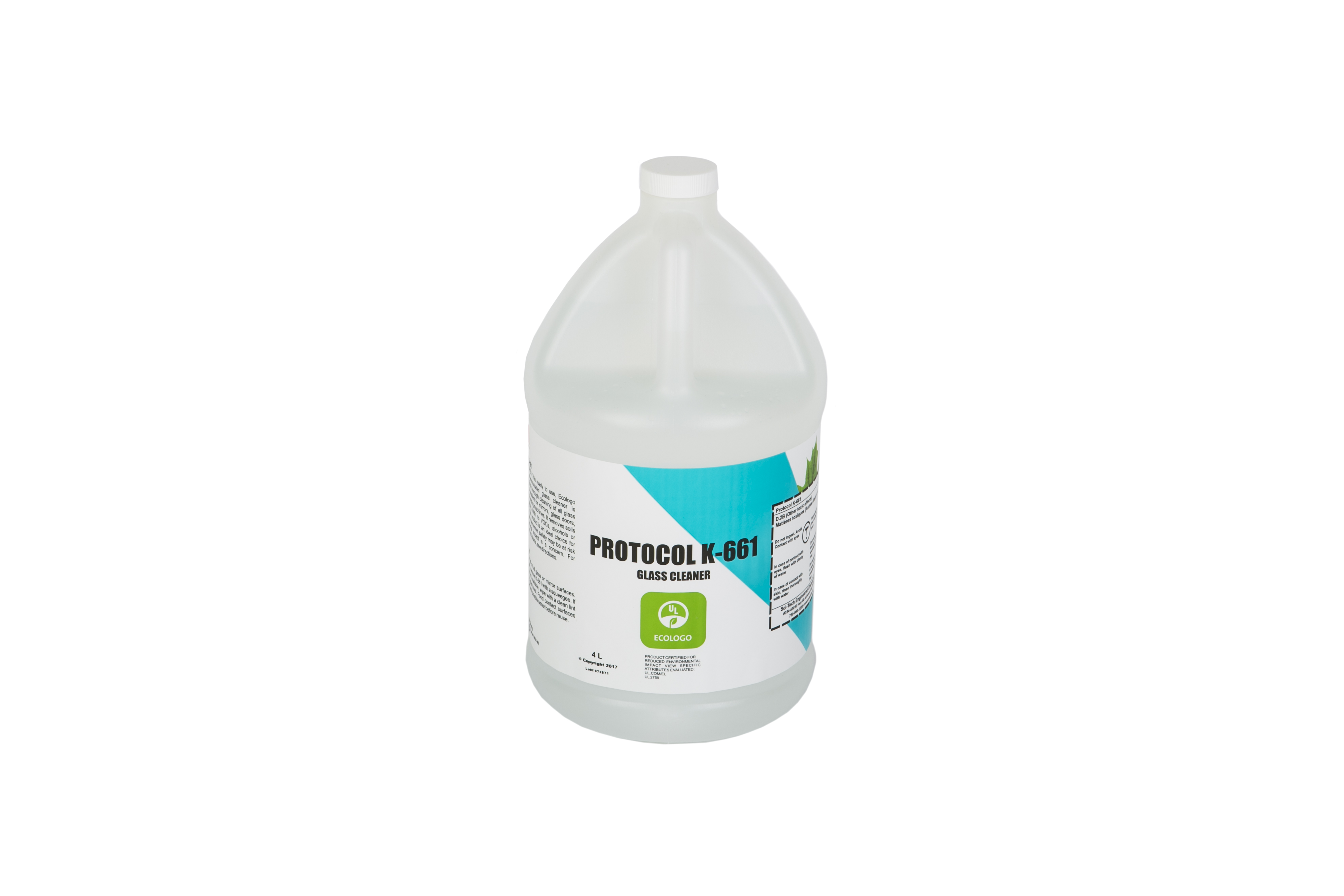Protocol K661 UL Eco Certified Glass Cleaner - 4 Litre