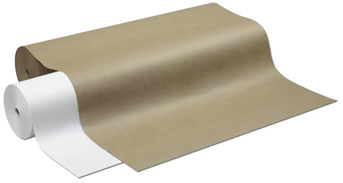 """1305 230 White Drug Wrapping Roll (40lb) - 30"""" x 1000'"""