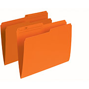 Continental 41507 Orange File Folders - Letter Size