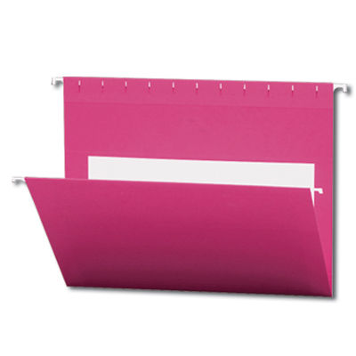 Continental 30549 Pink Hanging File Folders - Letter Size