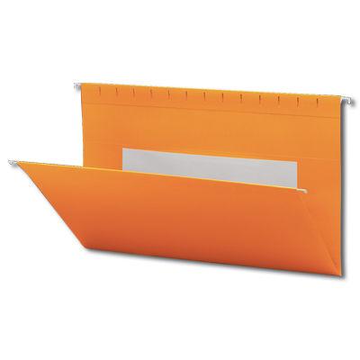Continental 37504 Orange Hanging File Folders - Legal Size