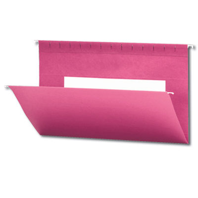 Continental 37524 Red Hanging File Folders - Legal Size