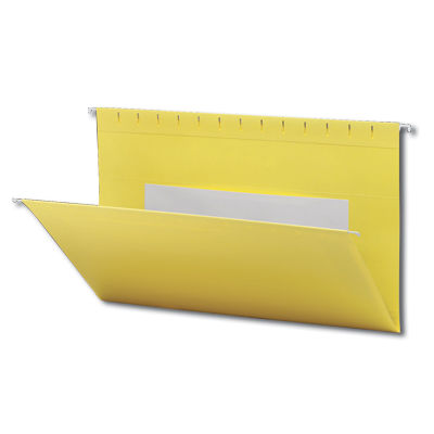 Continental 37528 Yellow Hanging File Folders - Legal Size
