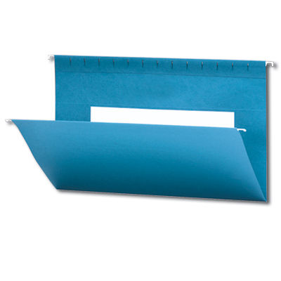 Continental 37520 Blue Hanging File Folders - Legal Size