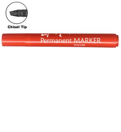 LiquiMark 91207 Permanent Markers Red - Chisel Tip