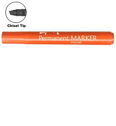 LiquiMark 91205 Permanent Markers Orange - Chisel Tip
