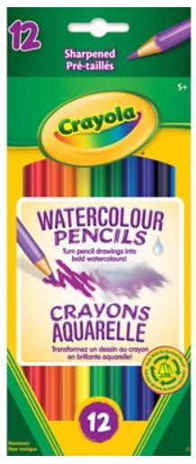 Crayola 67-1152 Watercolour Pencils - Package of 12