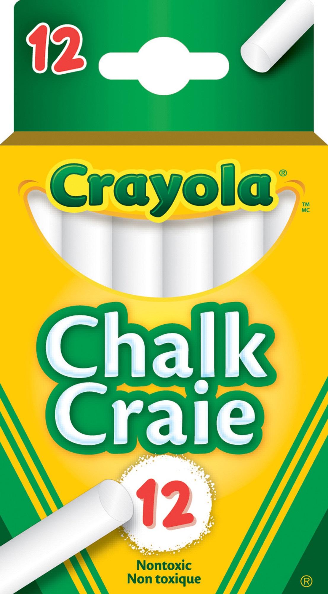 Crayola Chalk Dustless 510312 - White - 12/box