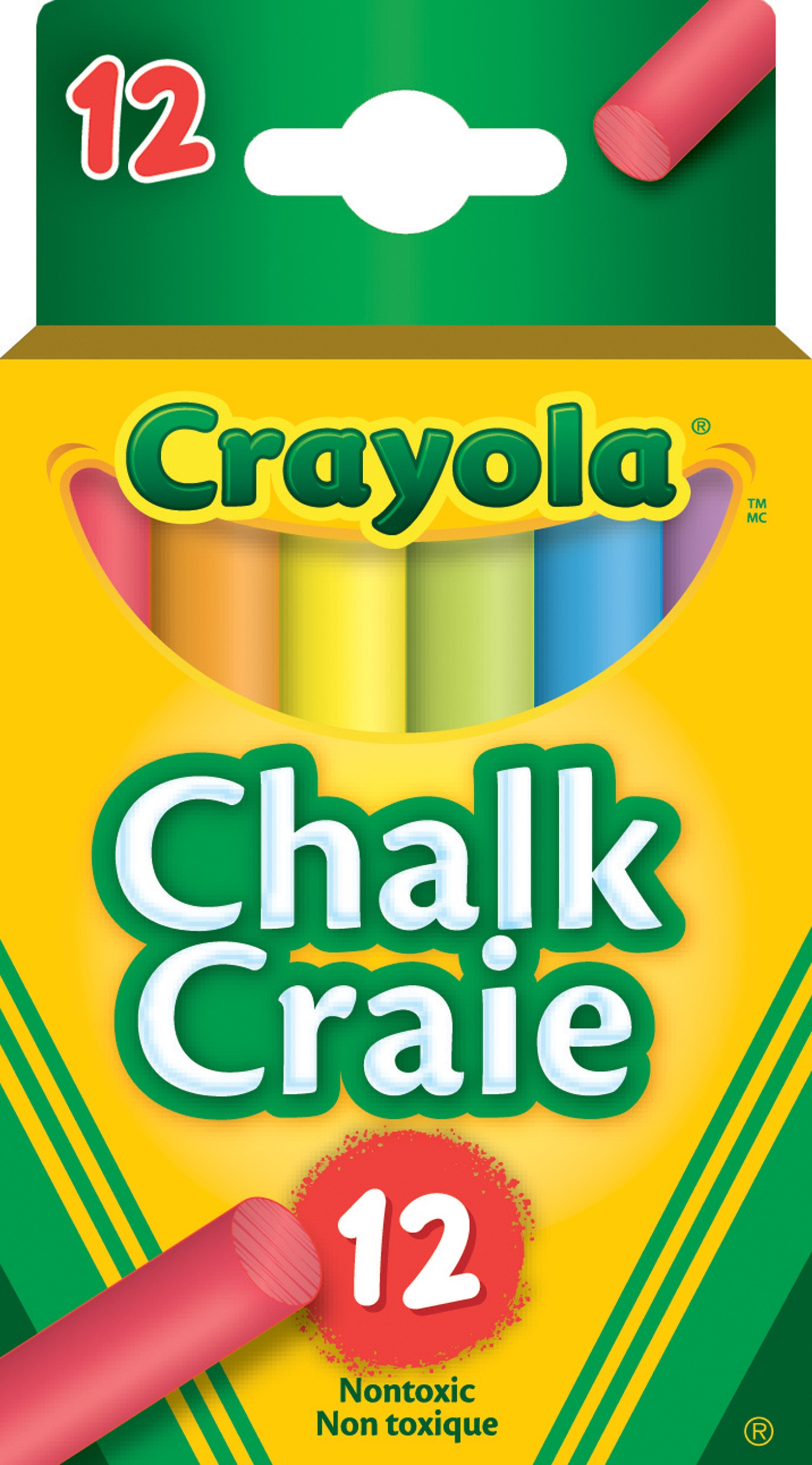 Crayola Chalk Assorted Colours 510812 - 12/box