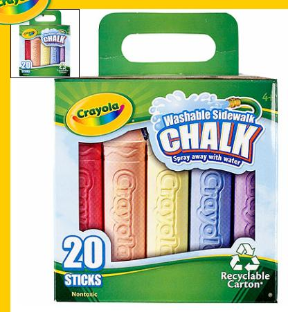 Crayola 513556 Sidewalk Chalk Assorted Colours - 24/pack