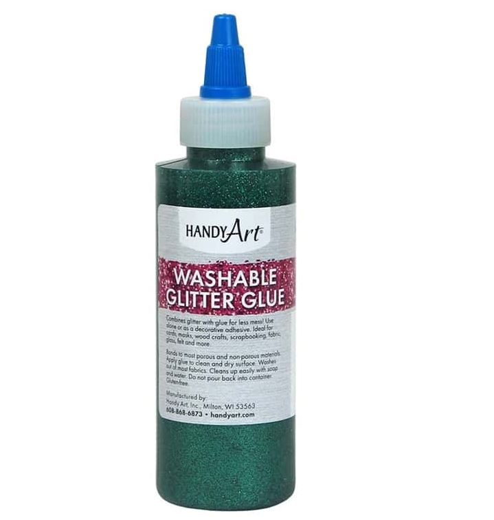 Handy Art 144-045 Glitter Glue Green - 4oz