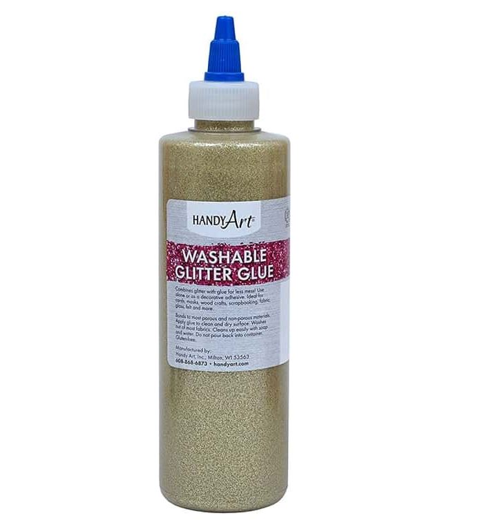 Handy Art 144-162  Glitter Glue Gold - 4oz