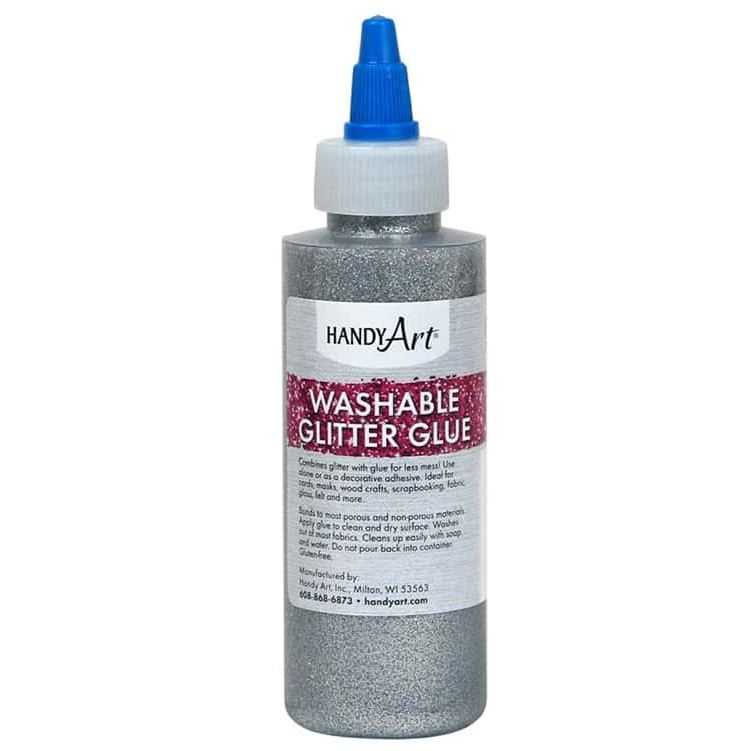 Handy Art 144-166  Glitter Glue Silver - 4oz