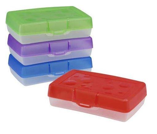 School Source Plastic Pencil Box - Each