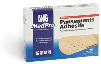MedPRO Steriled Plastic Bandages - 3/4x3