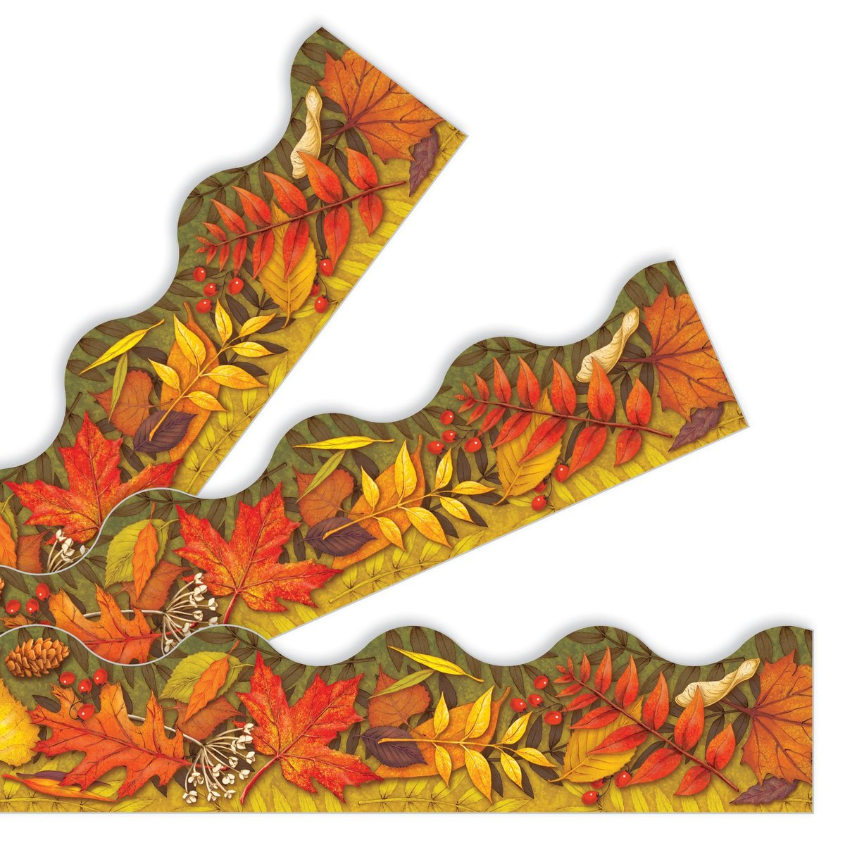 "Trend T92337 Terrific Trimmers Fall Leaves - 2 1/4"" x 39"""