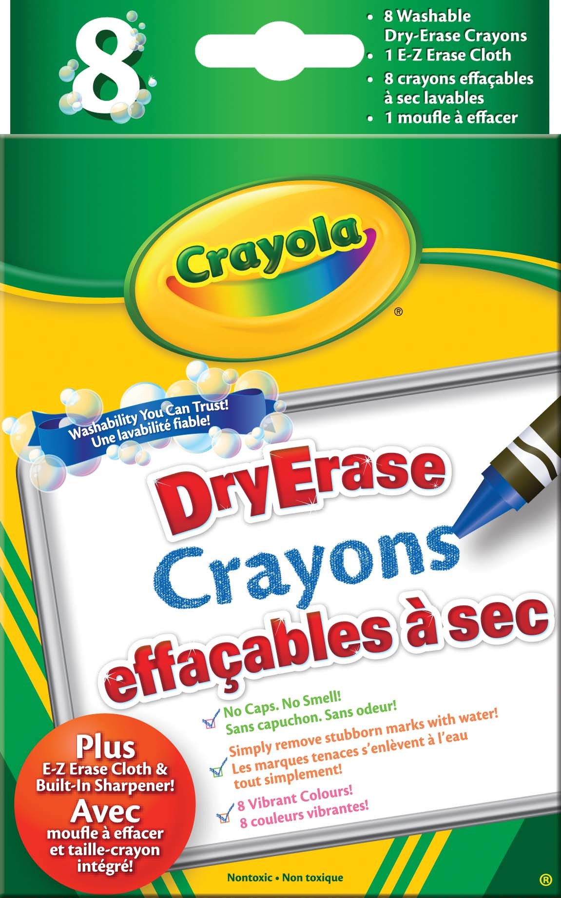 Crayola 988658 Dry Erase Crayons (for Whiteboard)