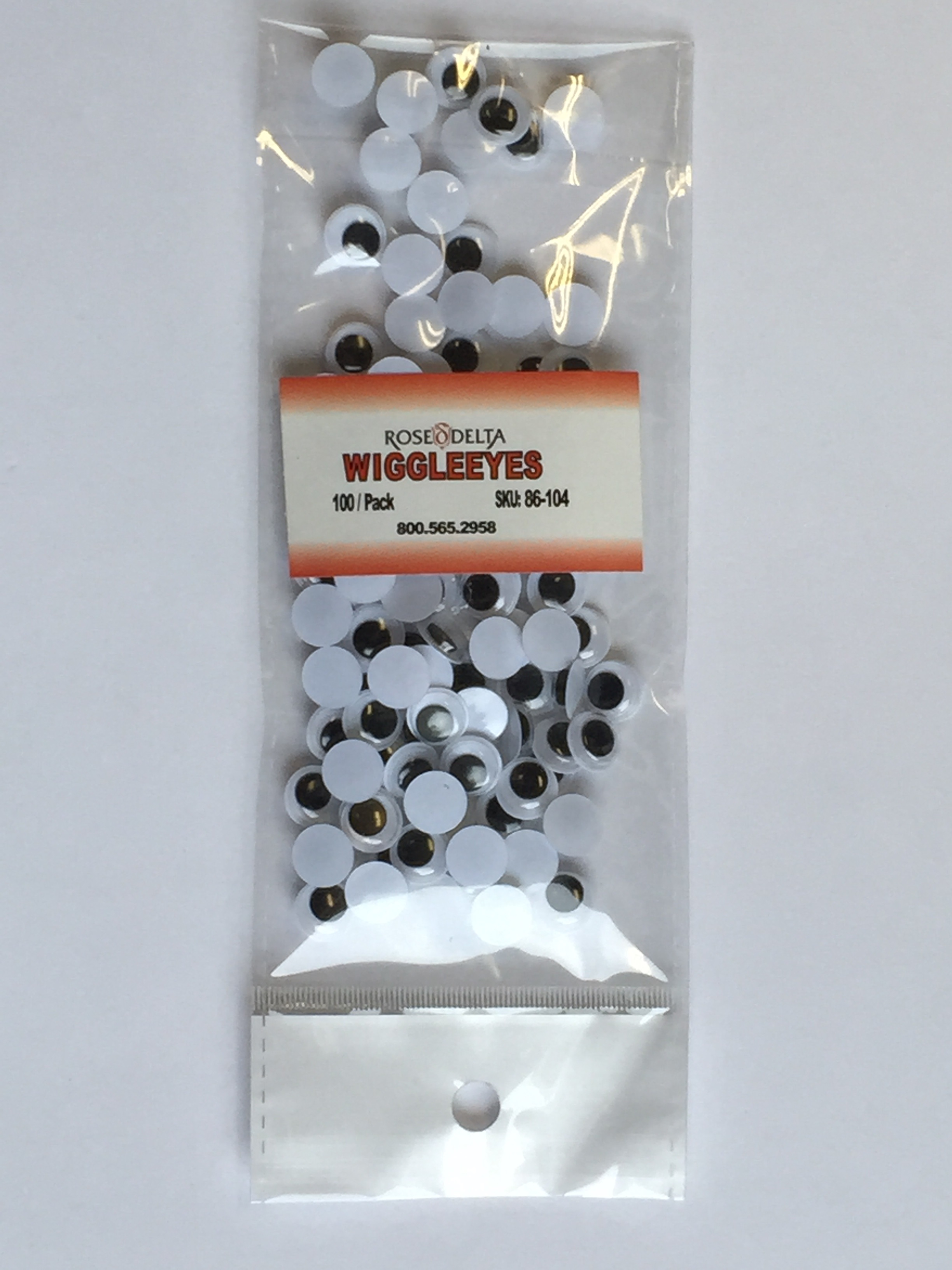 Wiggle Eyes Black - 10mm - 100/pkg