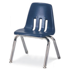 "Stacking Metal Frame Chairs Navy - 14"" - Each"